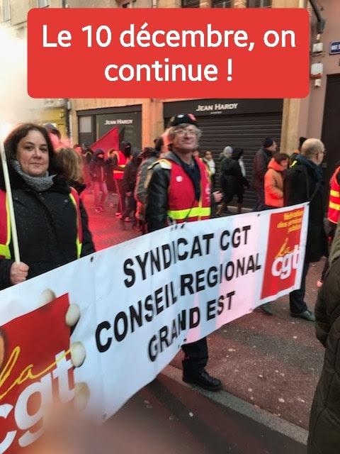 Manifestation CGT pour les retraites : le 10 décembre, on continue !